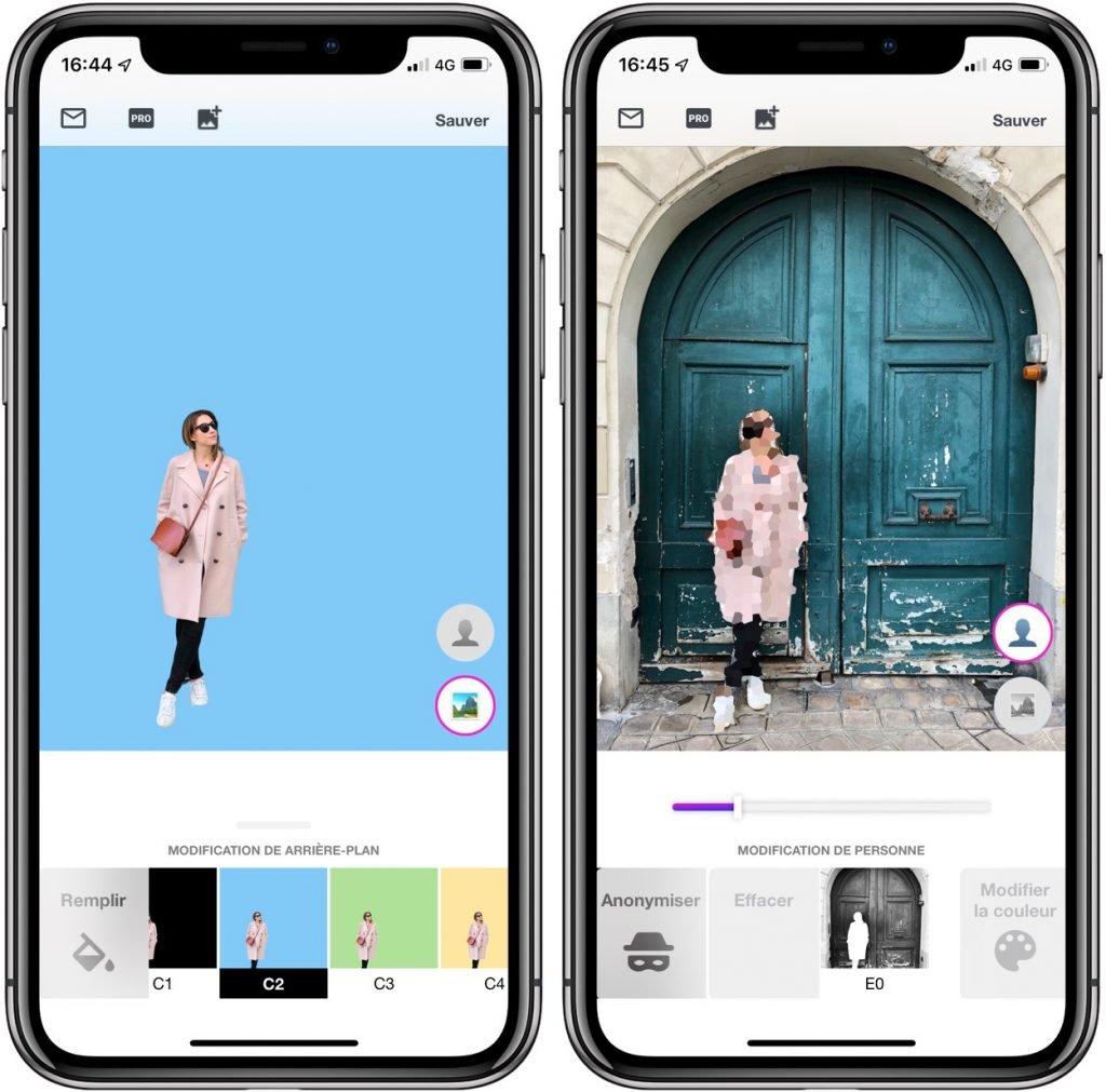 BG: du détourage et des retouches photo façon Photoshop sur iPhone 3