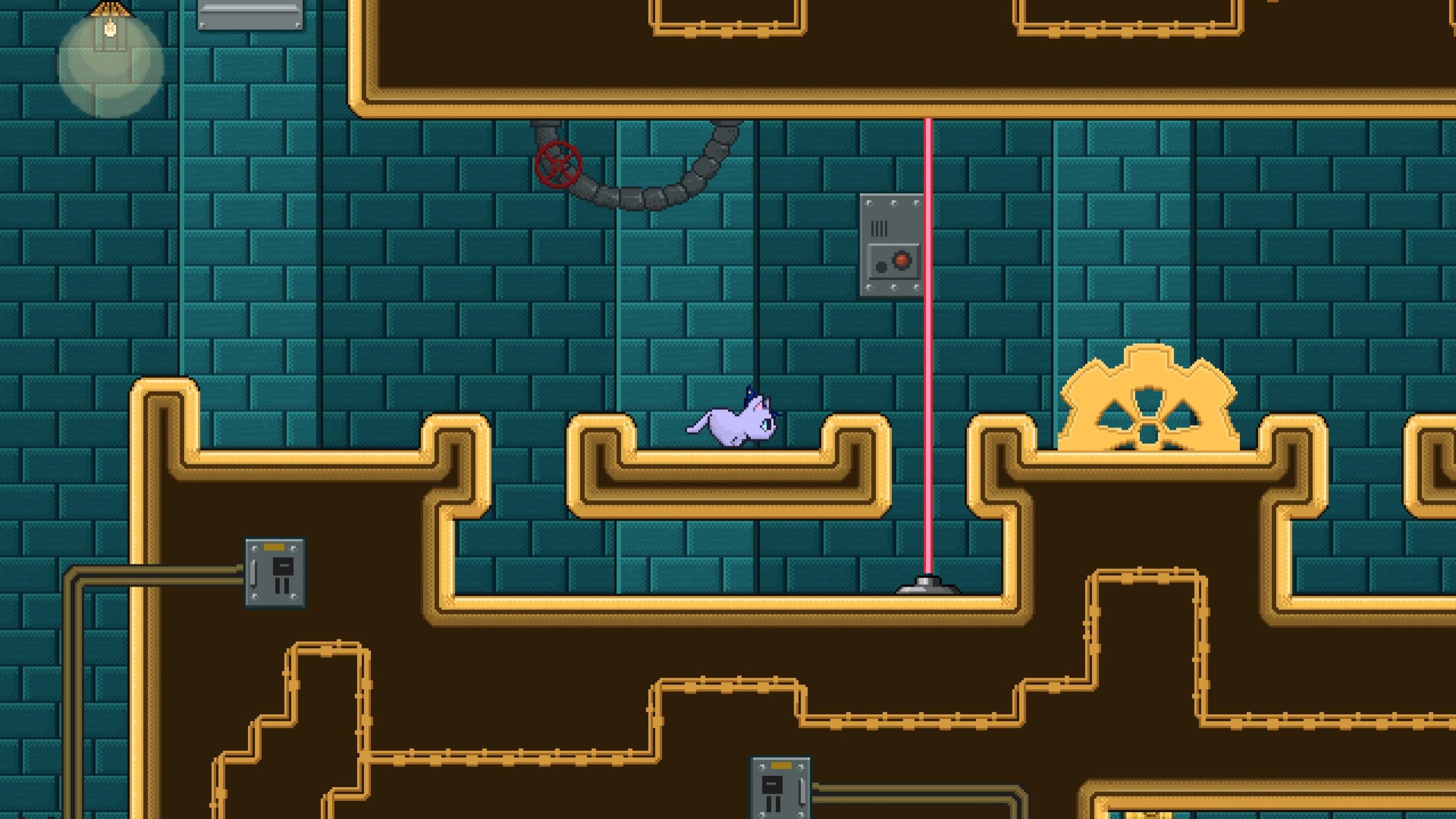 Accompagnez Bubbles the Cat dans les 120 niveaux de ce nouveau et bon jeu de plateforme 2D iPhone, iPad 1