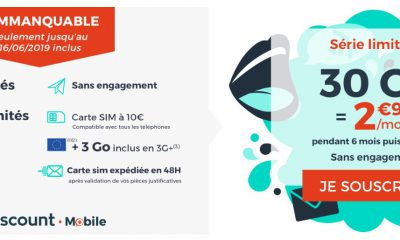 Promo forfait : illimité + 30 Go à 2,99 €/mois chez Cdiscount Mobile 2