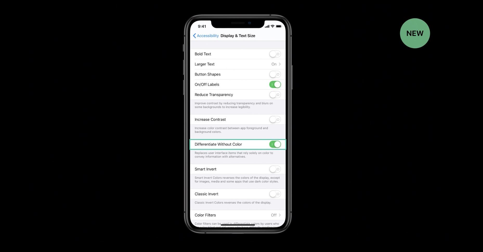 De toutes nouvelles fonctions d'accessibilité avec iOS 13 : pour daltoniens et autres difficultés 1