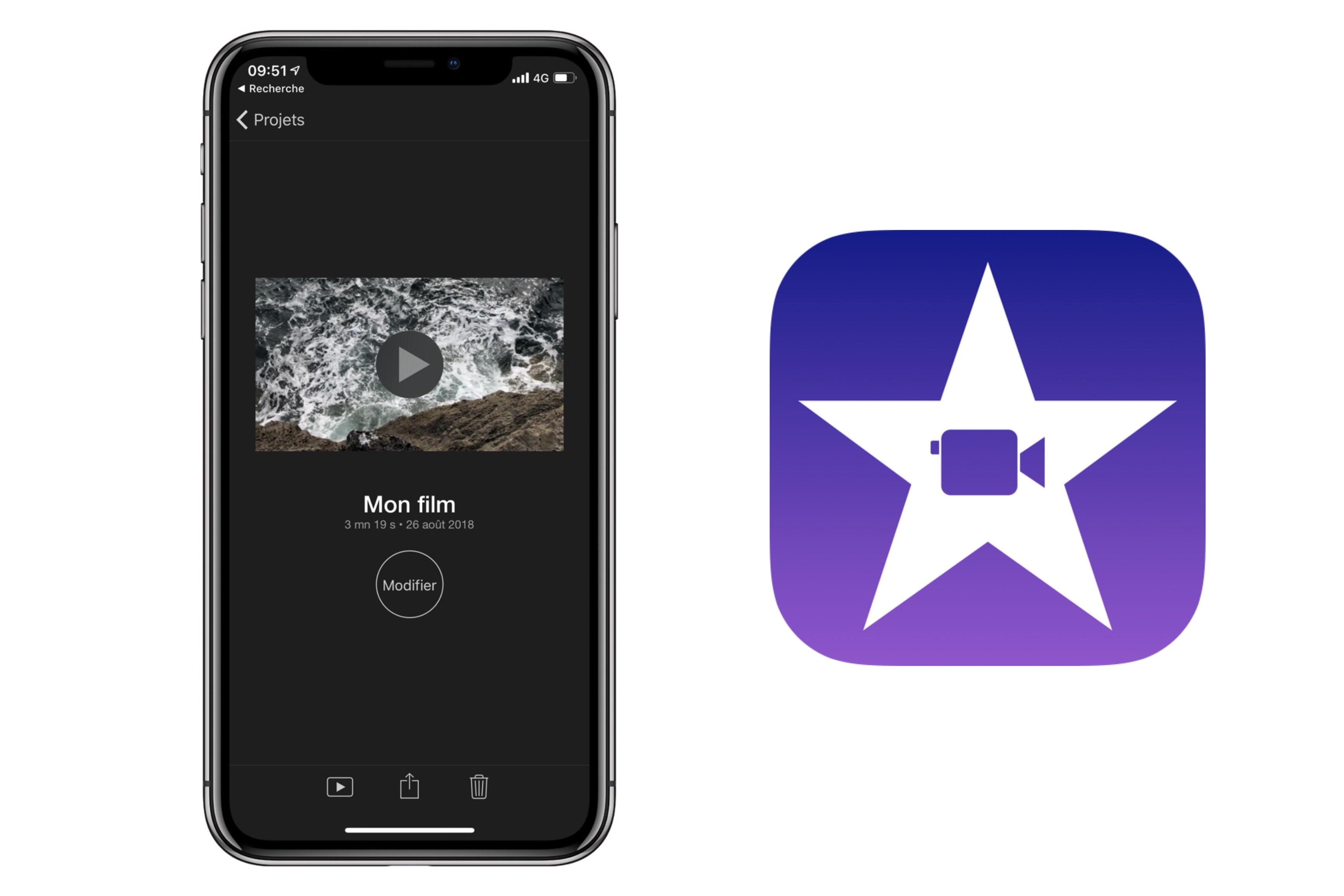 Nouvelle version d'iMovie sur iPhone et iPad  avec notamment le support des «fonds verts» 1