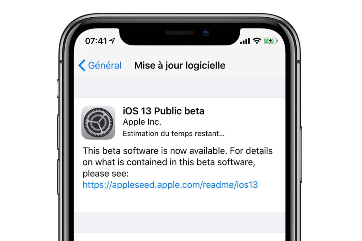 iOS 13 beta publique