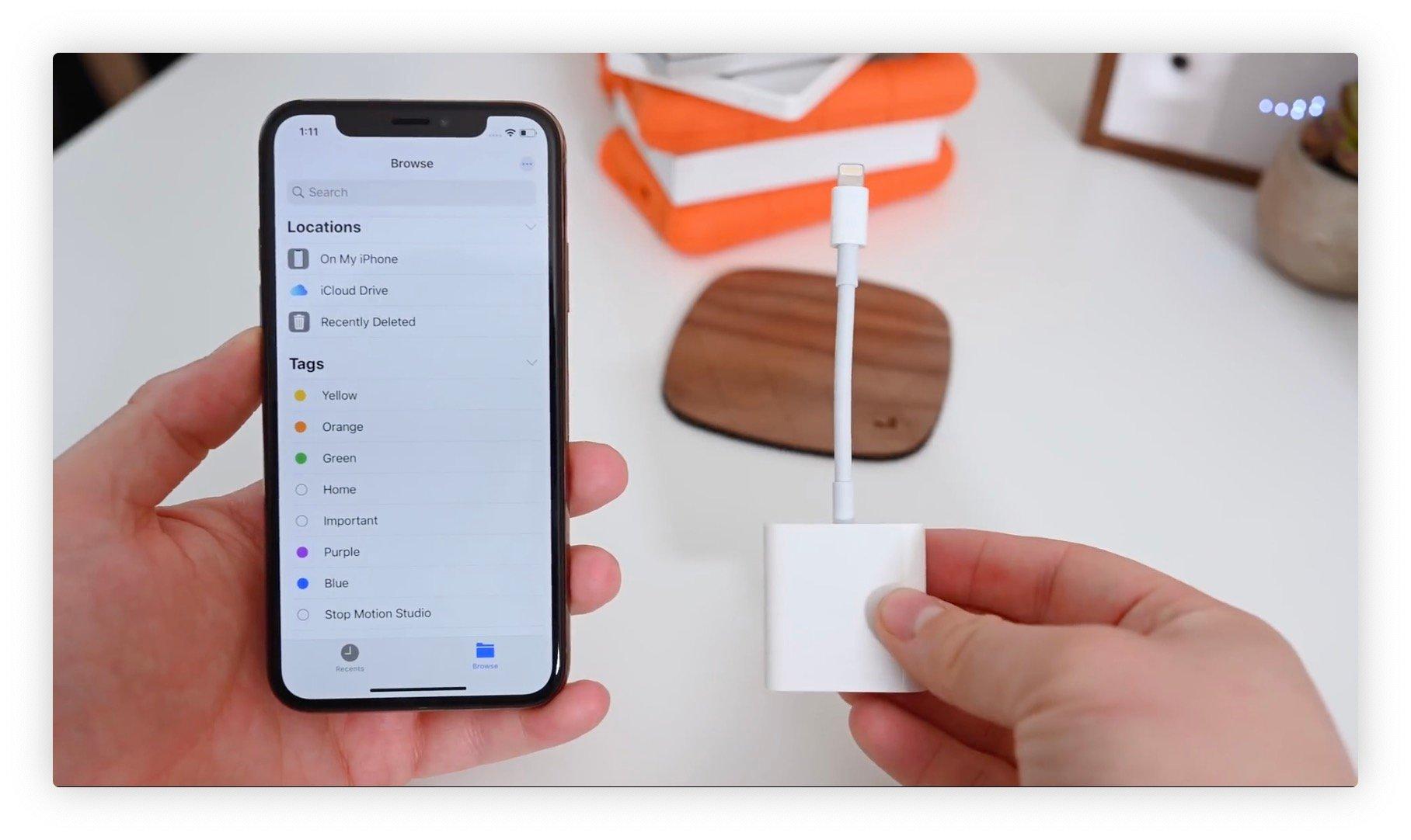 Brancher la carte SD à l'iPad