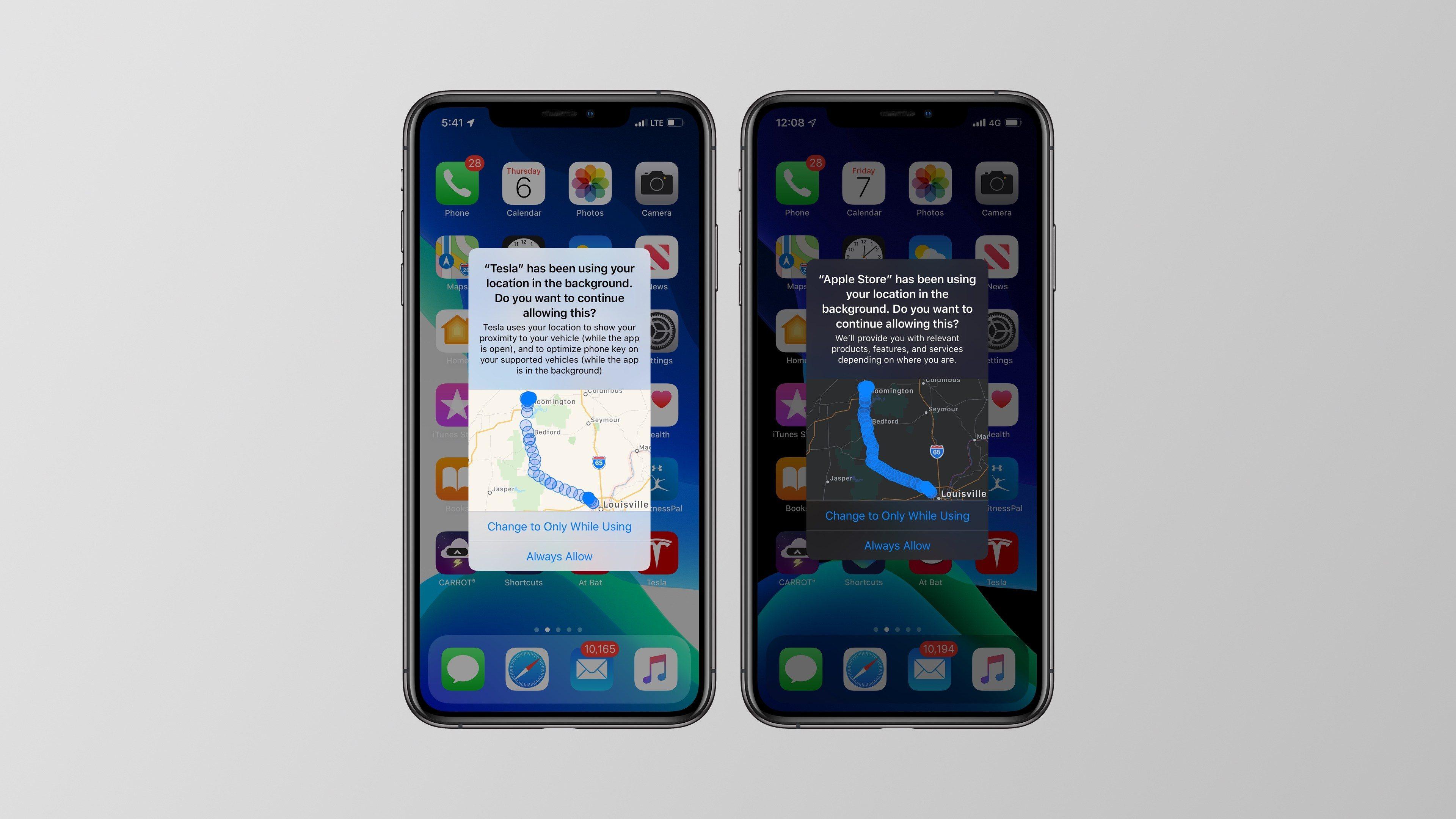 application localisation iphone 5