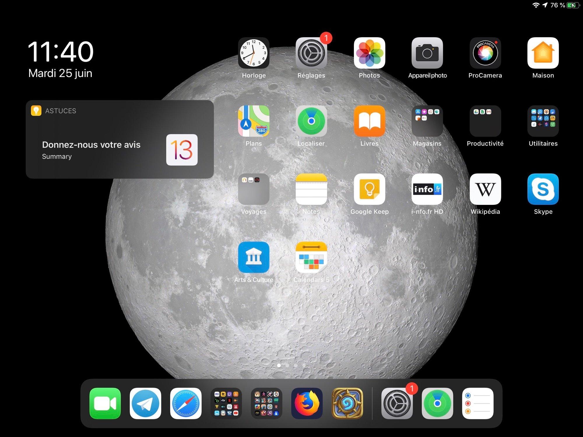 Tutoriel iOS 13: comment passer l'iPad ou l'iPhone en mode sombre? 2