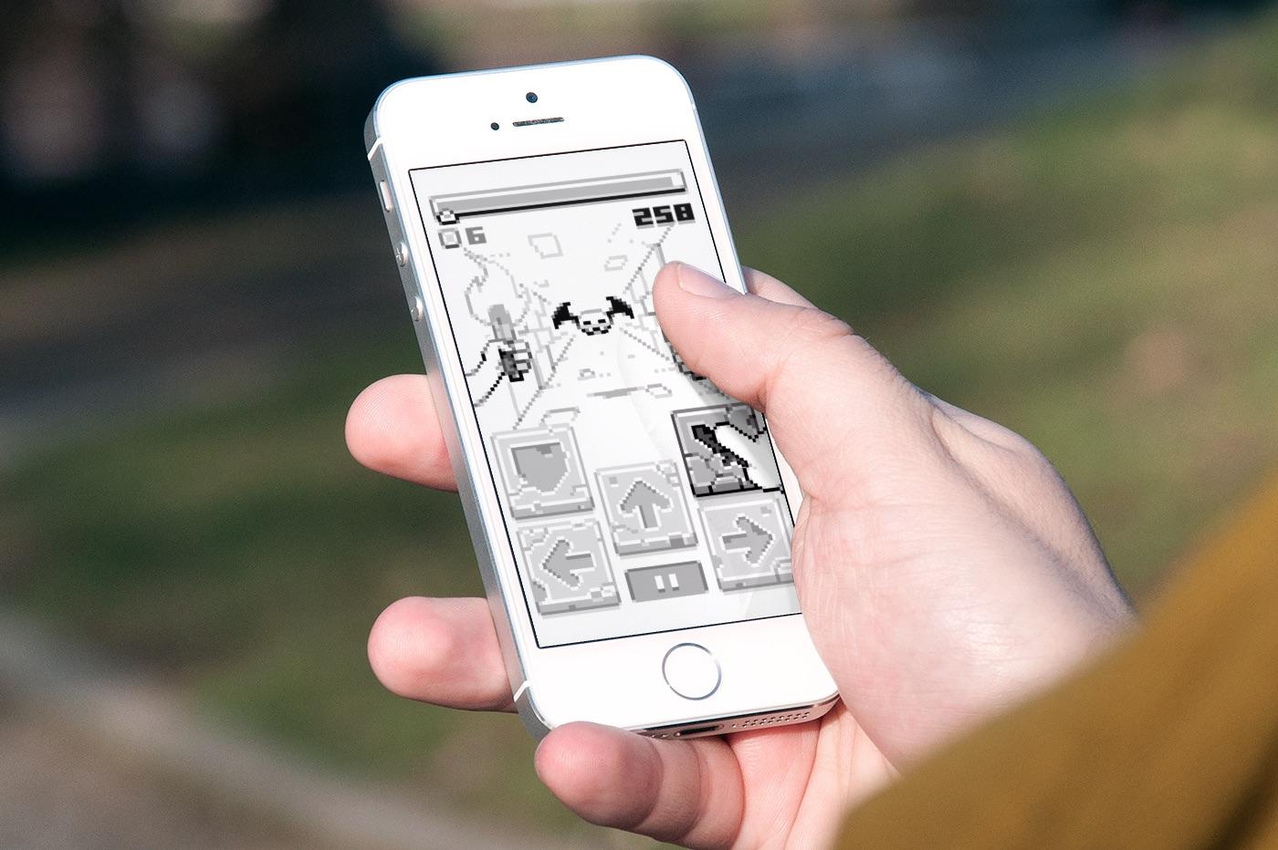 Spring RPG disponible sur iPhone & iPad : pixels et monochromie au programme 1