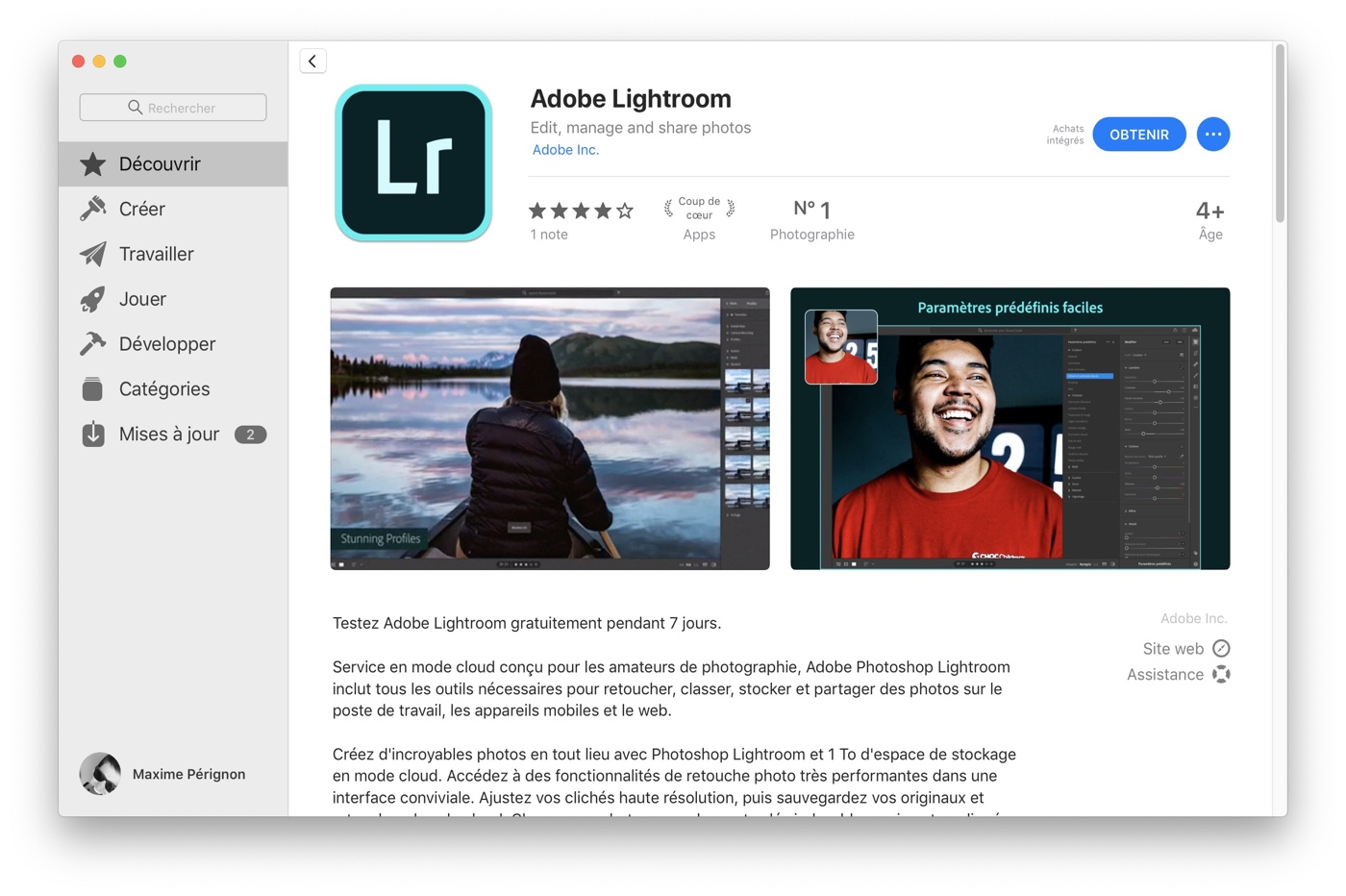 Lightroom Mac App Store