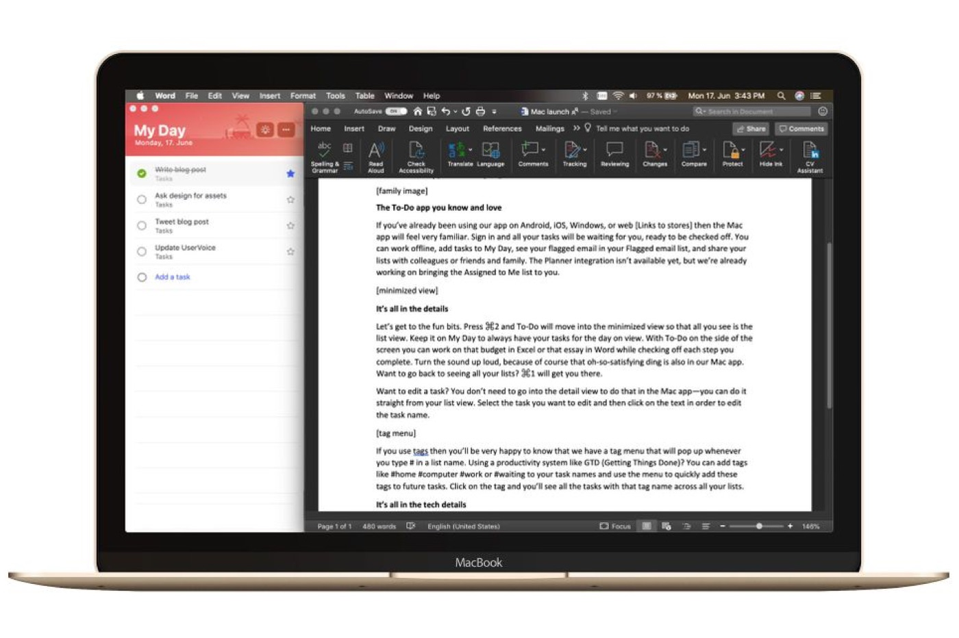 Le gestionnaire de tâches Microsoft To-Do disponible sur Mac 1
