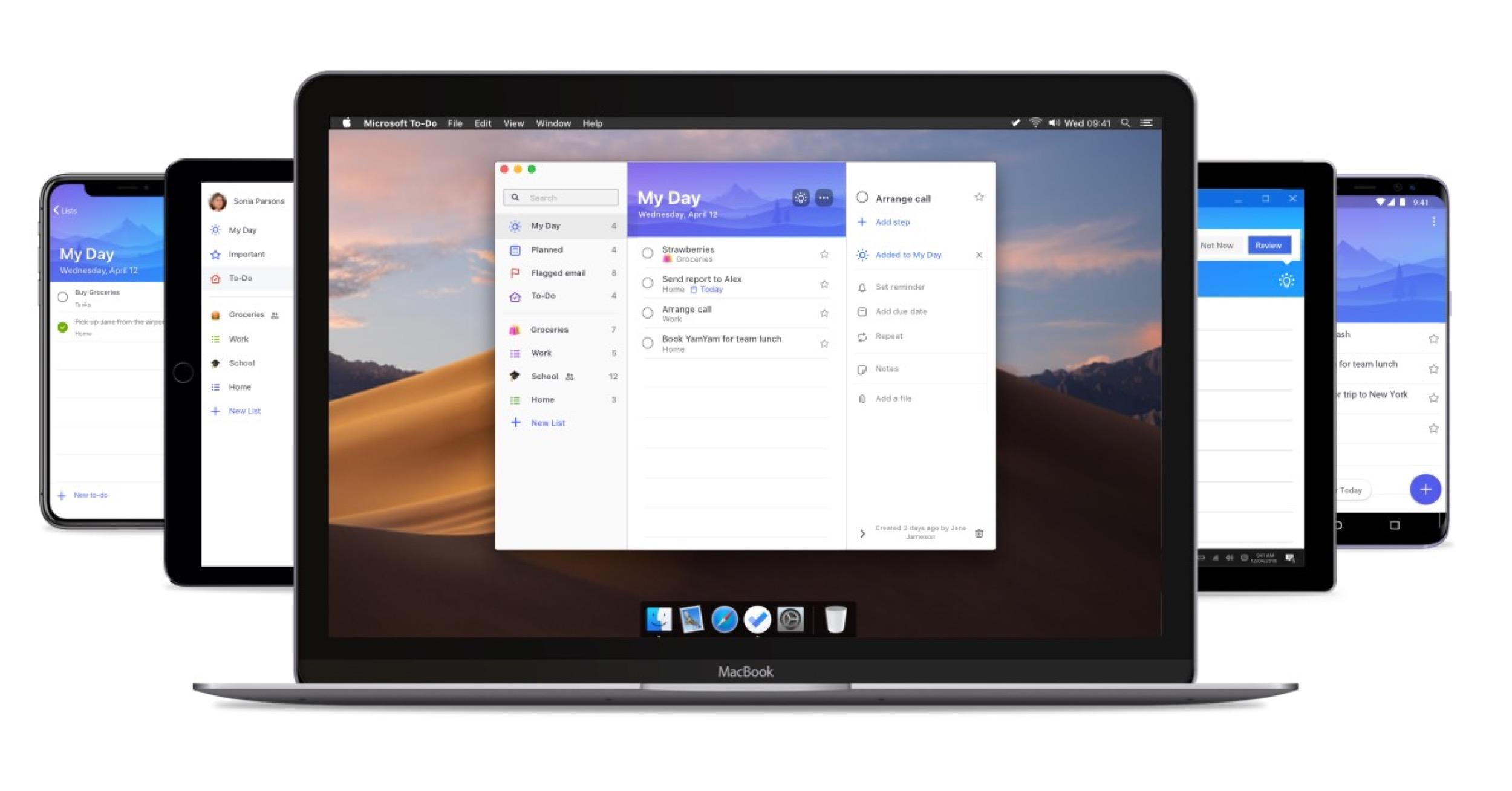 Le gestionnaire de tâches Microsoft To-Do disponible sur Mac 3