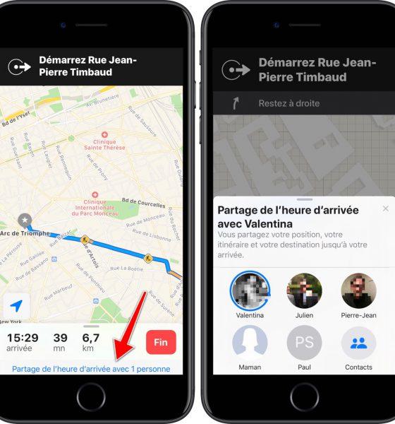 iOS 13 : Plans peut partager le temps d'arrivée en temps réel avec un ami 2