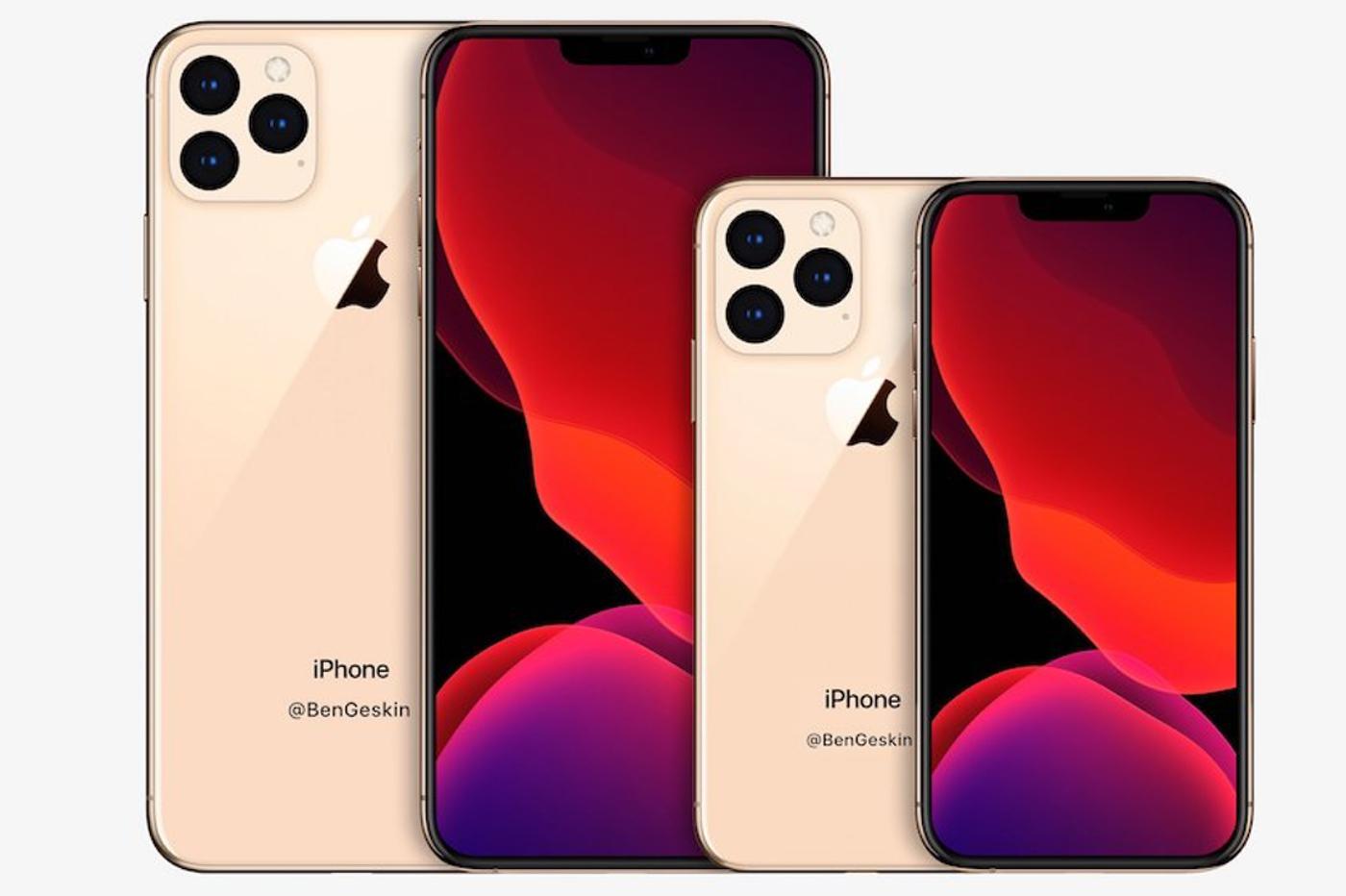iPhone 2020 : rendu montrant les nouvelles tailles d'écran 1