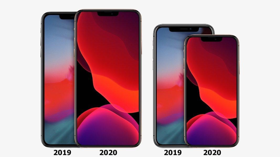 iPhone 2020: rendu montrant les nouvelles tailles d'écran 2