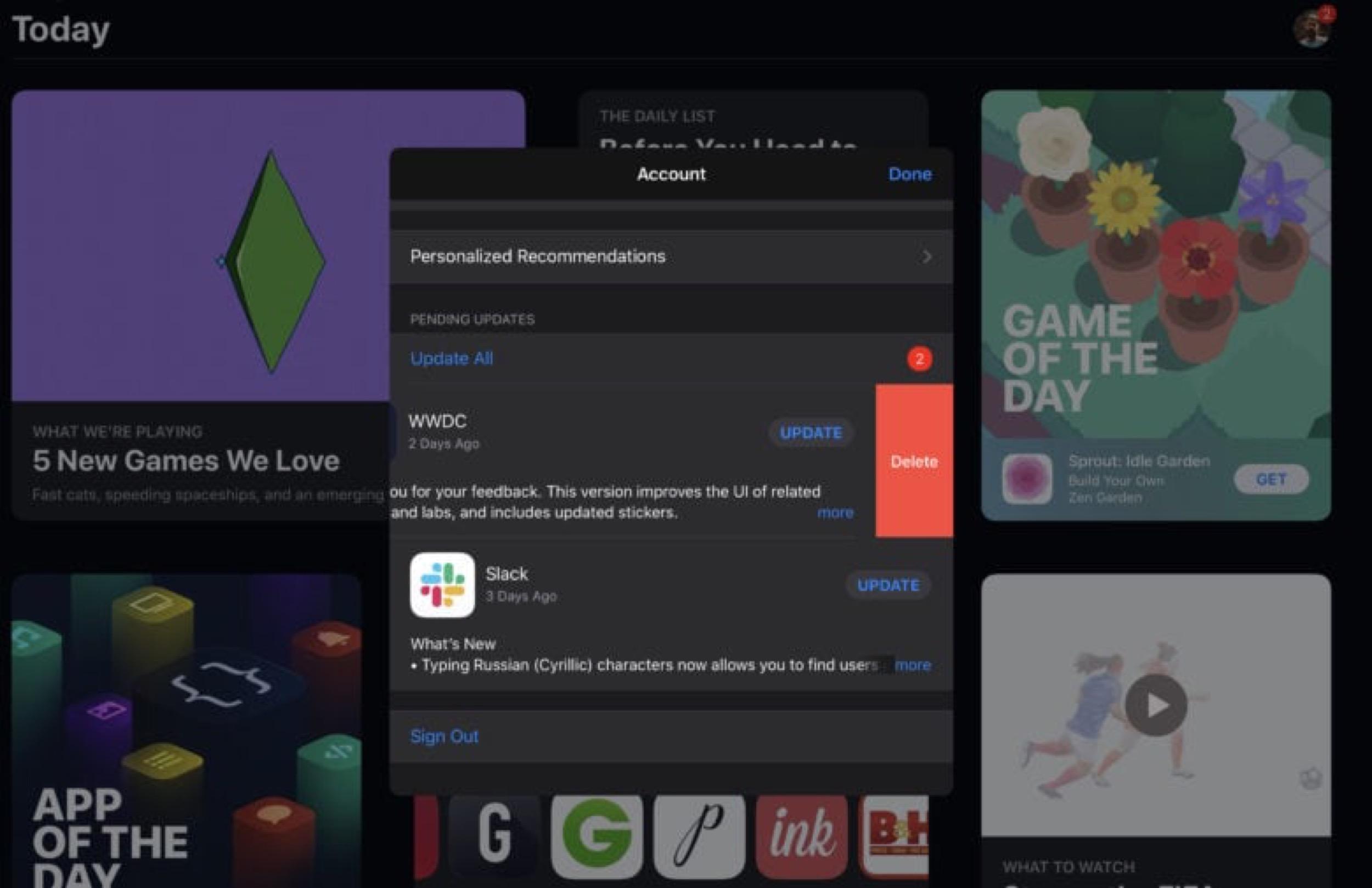 Du nouveau pour les mises à jour d'app et suppression facilitée avec iOS 13 1