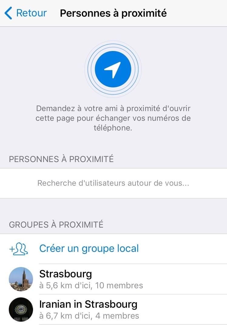 La nouvelle version de Telegram met en contact les utilisateurs à proximité 4
