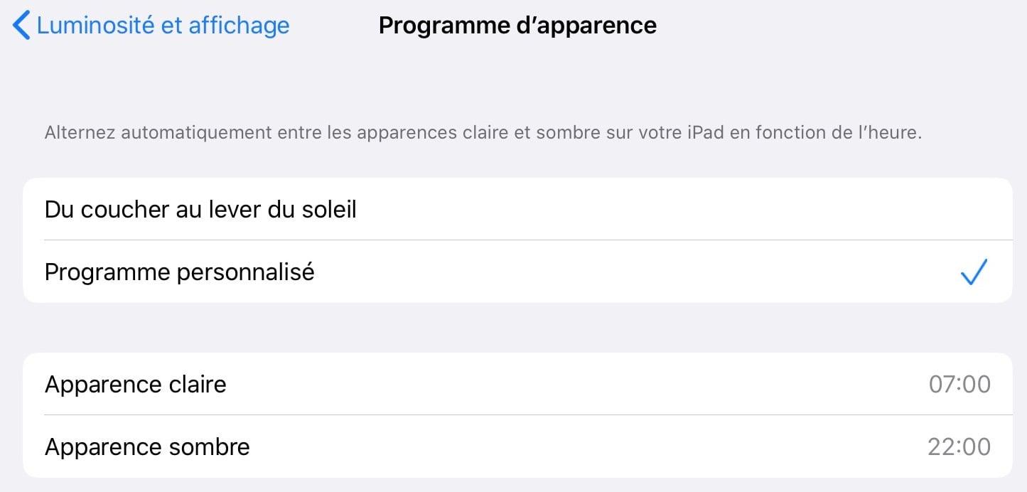 Tutoriel iOS 13: comment passer l'iPad ou l'iPhone en mode sombre? 5