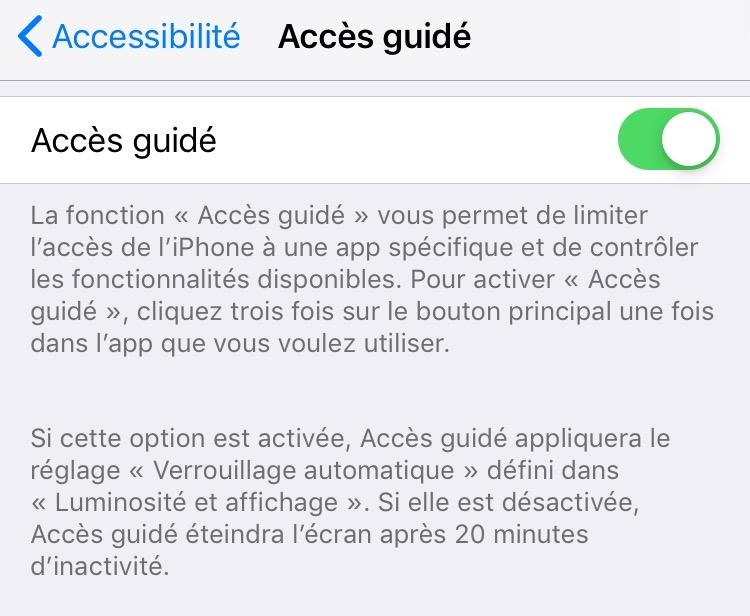 En pratique: comment n'autoriser qu'une seule app aux enfants sur iPhone ou iPad 4
