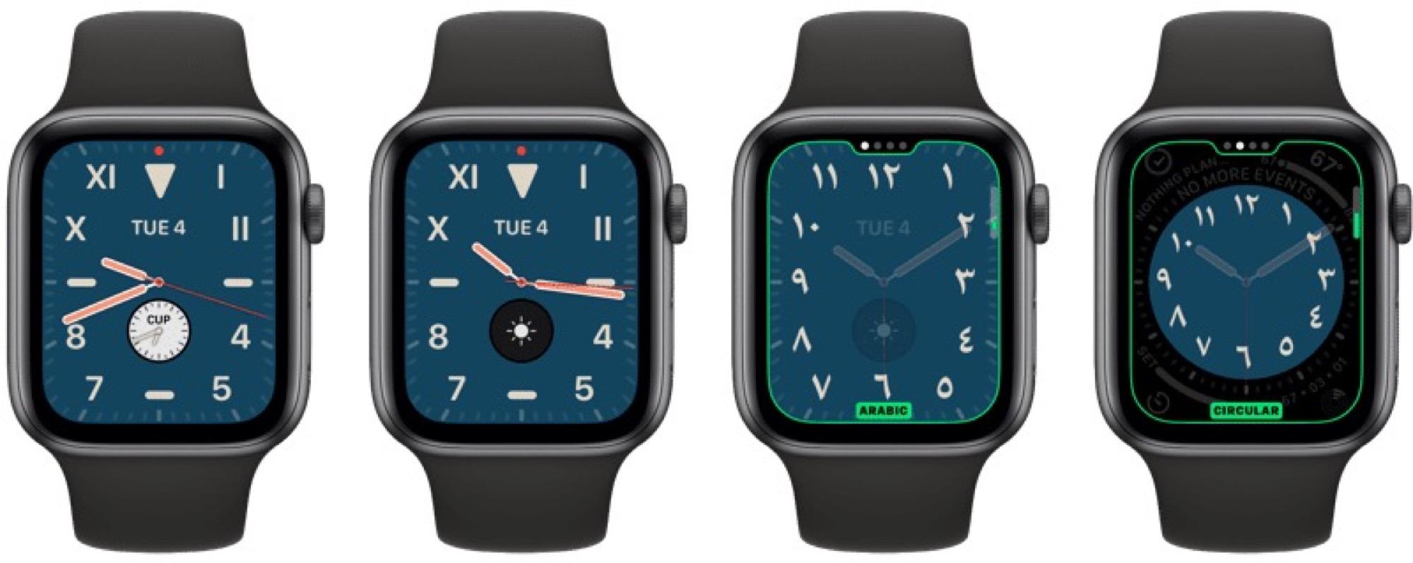 Des cadrans exclusifs aux Apple Watch récentes dans watchOS 6 10