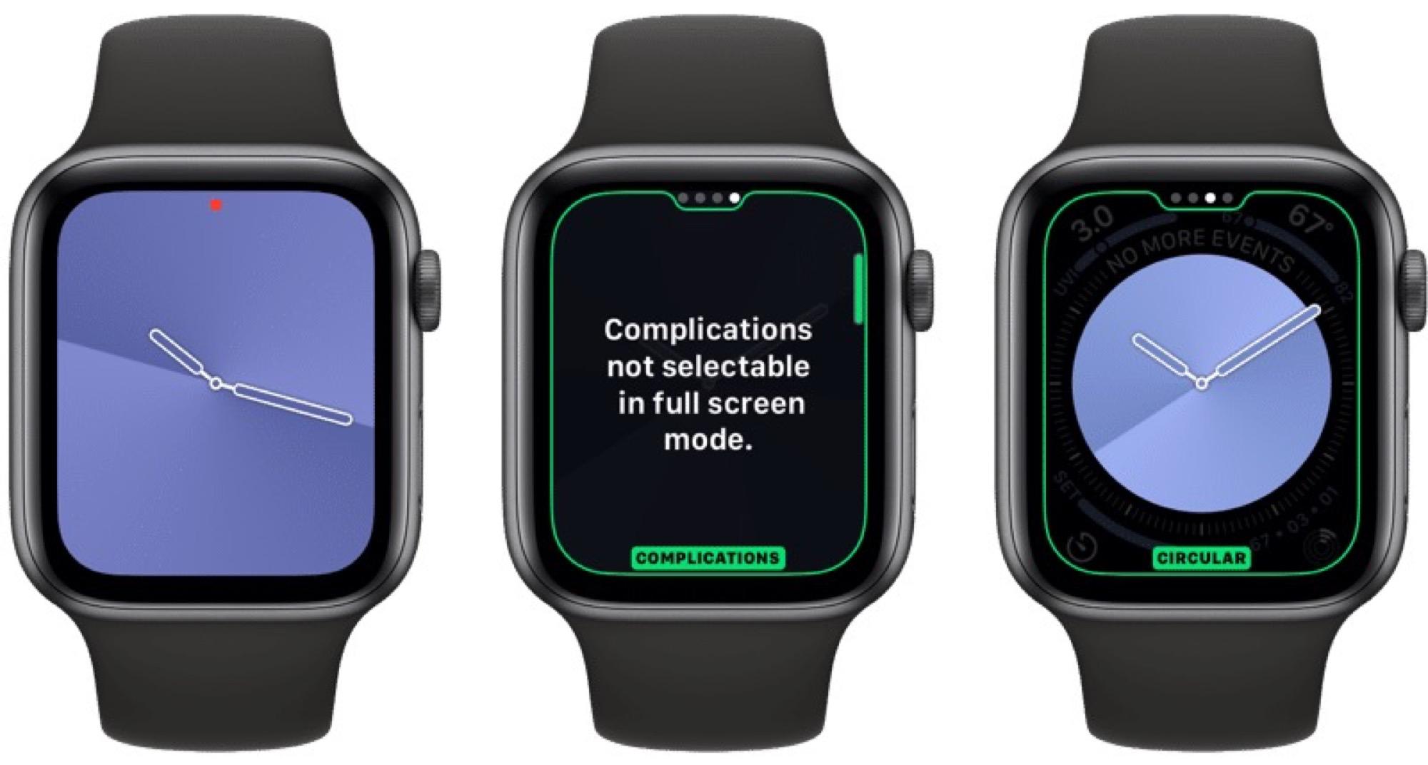 Des cadrans exclusifs aux Apple Watch récentes dans watchOS 6 9