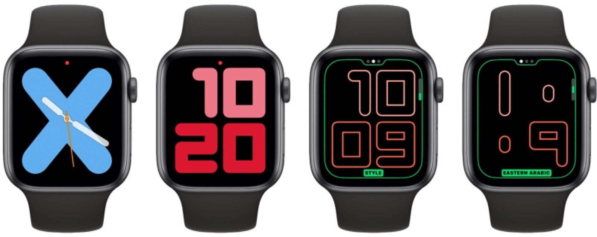 Des cadrans exclusifs aux Apple Watch récentes dans watchOS 6 6