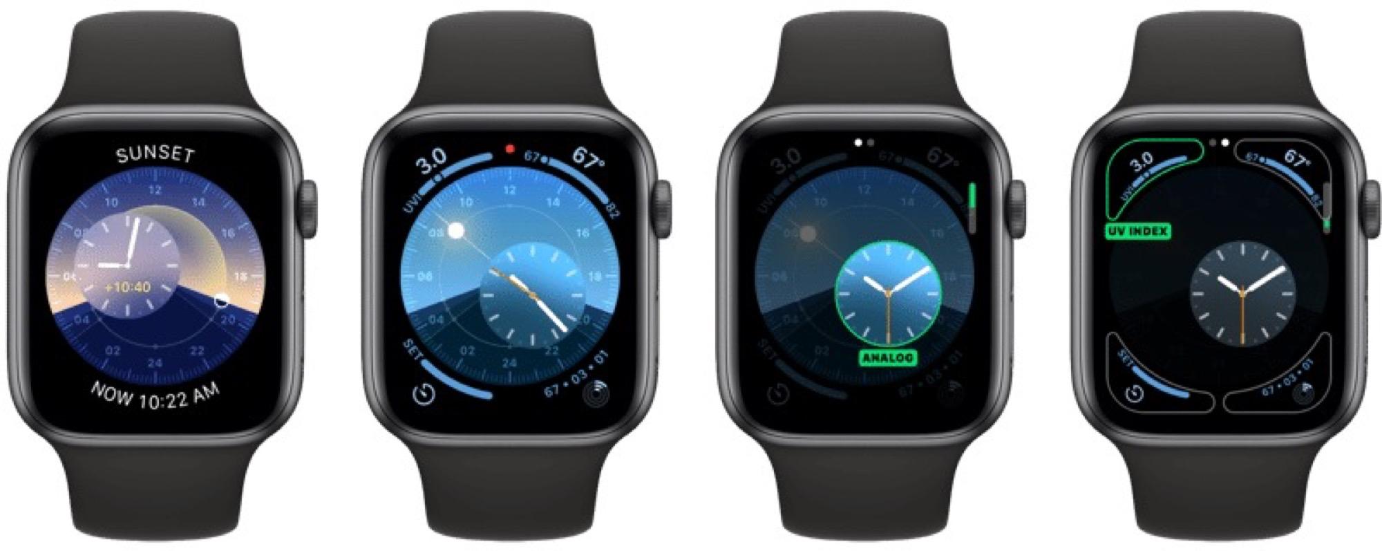 Des cadrans exclusifs aux Apple Watch récentes dans watchOS 6 8