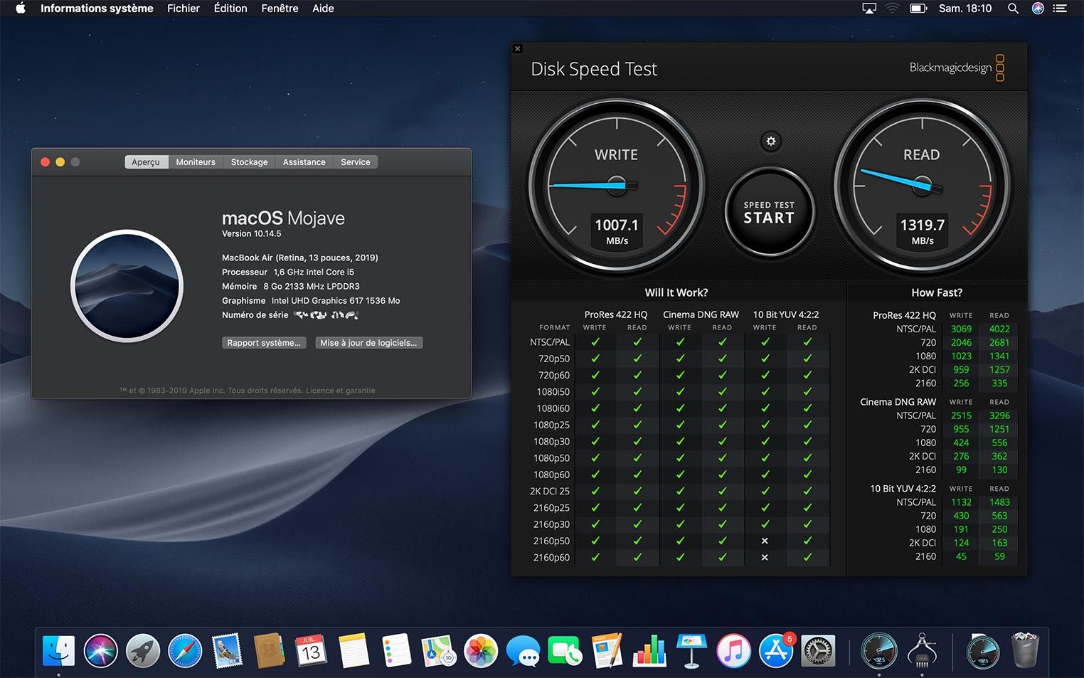 MacBook Air: le SSD de 2019 moins véloce que celui de 2018 8