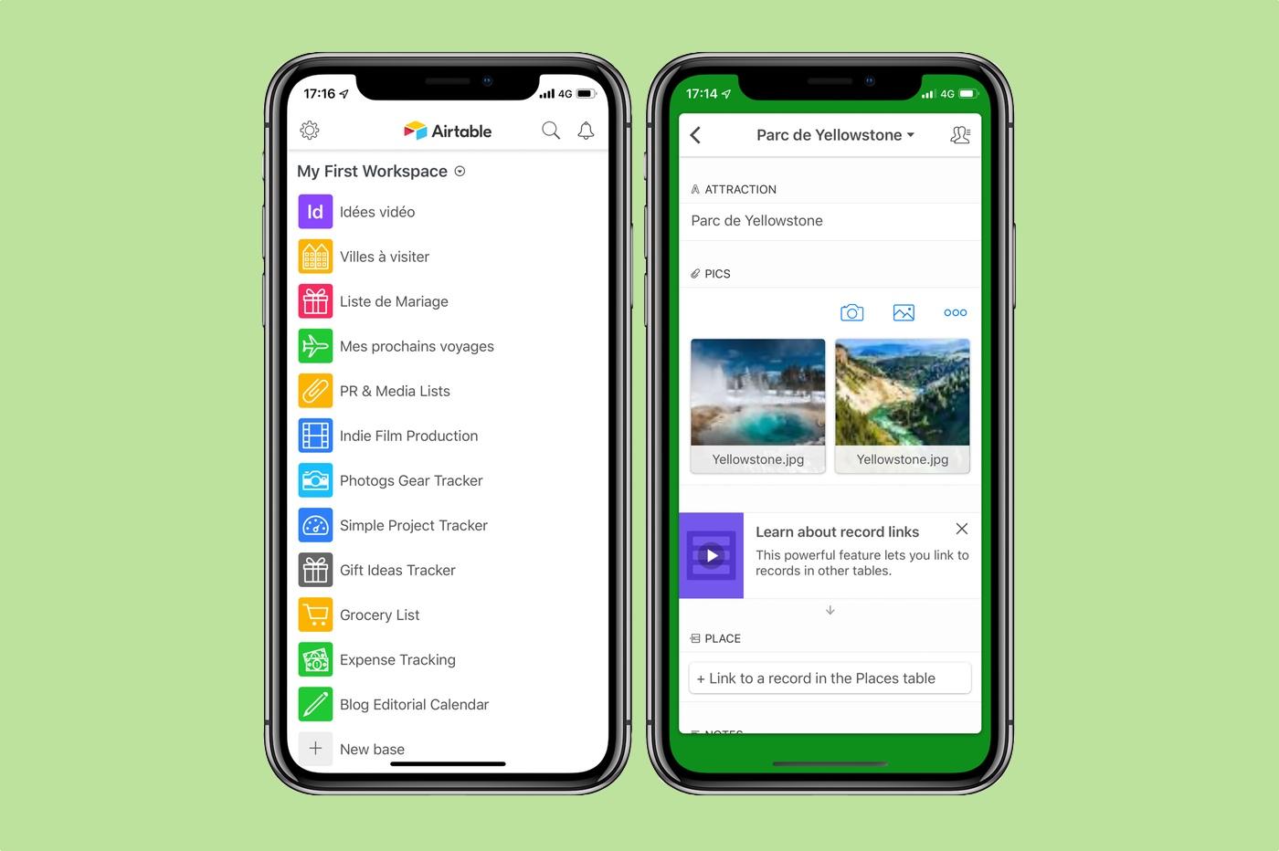 Airtable : organiser votre vie façon base de données avec cette app iPhone, iPad 1