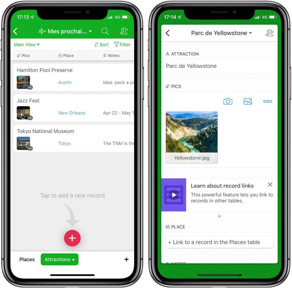 Airtable: organiser votre vie façon base de données avec cette app iPhone, iPad 4