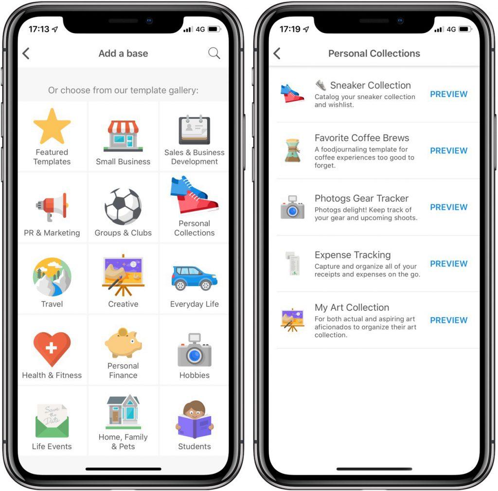 Airtable: organiser votre vie façon base de données avec cette app iPhone, iPad 3