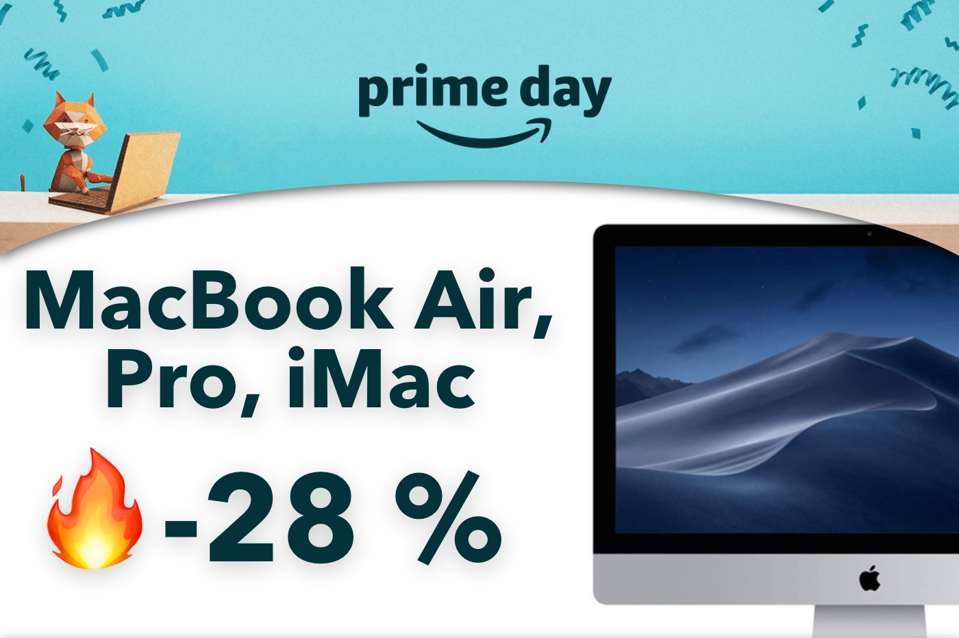 Amazon Prime Day : jusqu'à -28 % sur les MacBook Air, Pro et iMac 1