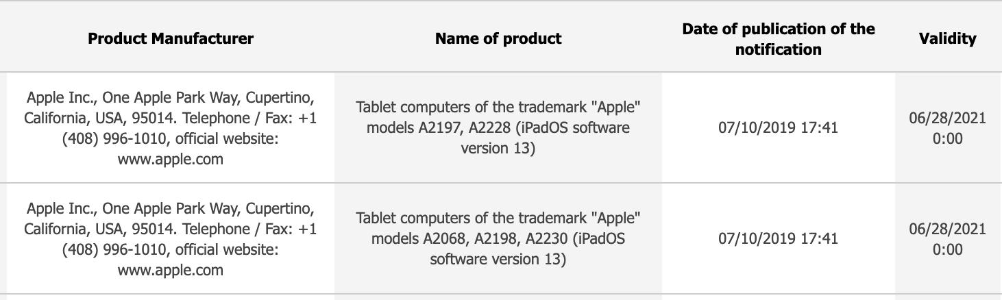 Nouveaux iPad en approche? Apple fait enregistrer de nouveaux modèles 1