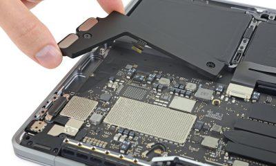 """SSD soudée et batterie gonflée pour le dernier MacBook Pro 13"""" 3"""