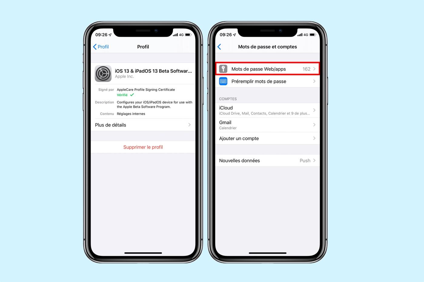 iOS 13 : un bug permet d'accéder à tous les mots de passe 1