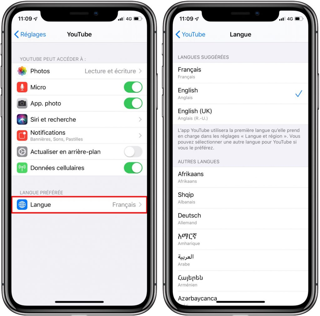 iOS 13 permet de changer la langue de n'importe quelle app 2