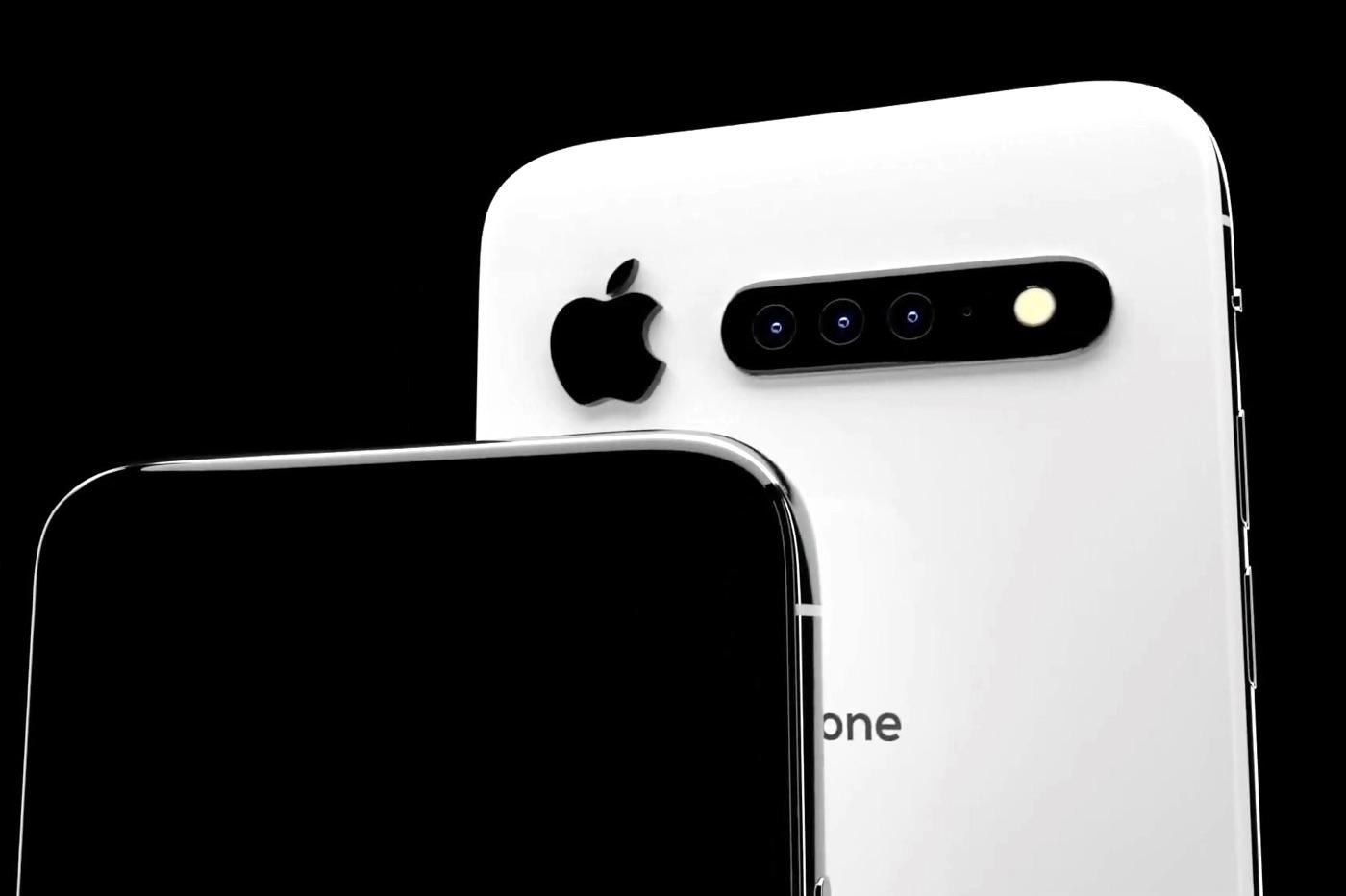 Nouveau concept iPhone 11 : retour de la barre de capteurs photo 1