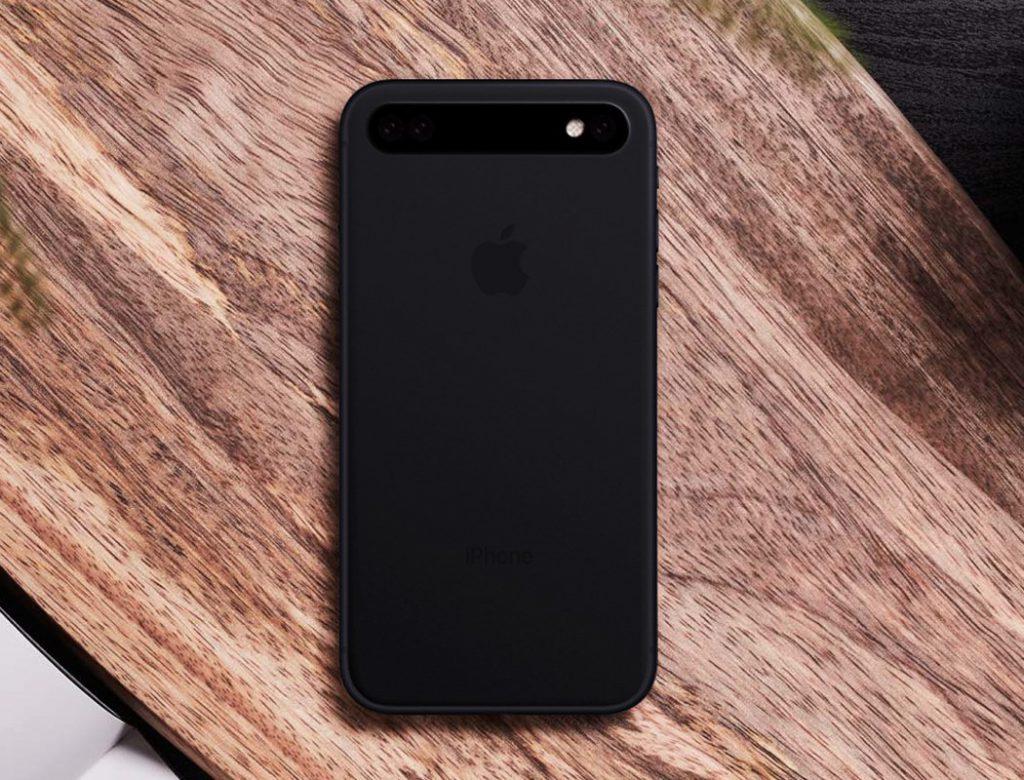 Concept: un triple capteur photo aligné horizontalement pour l'iPhone 11 2