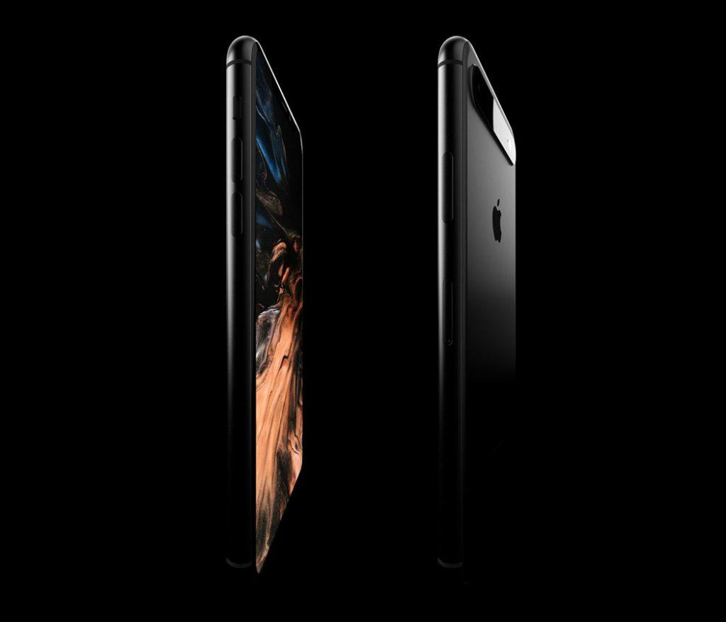 Concept: un triple capteur photo aligné horizontalement pour l'iPhone 11 5