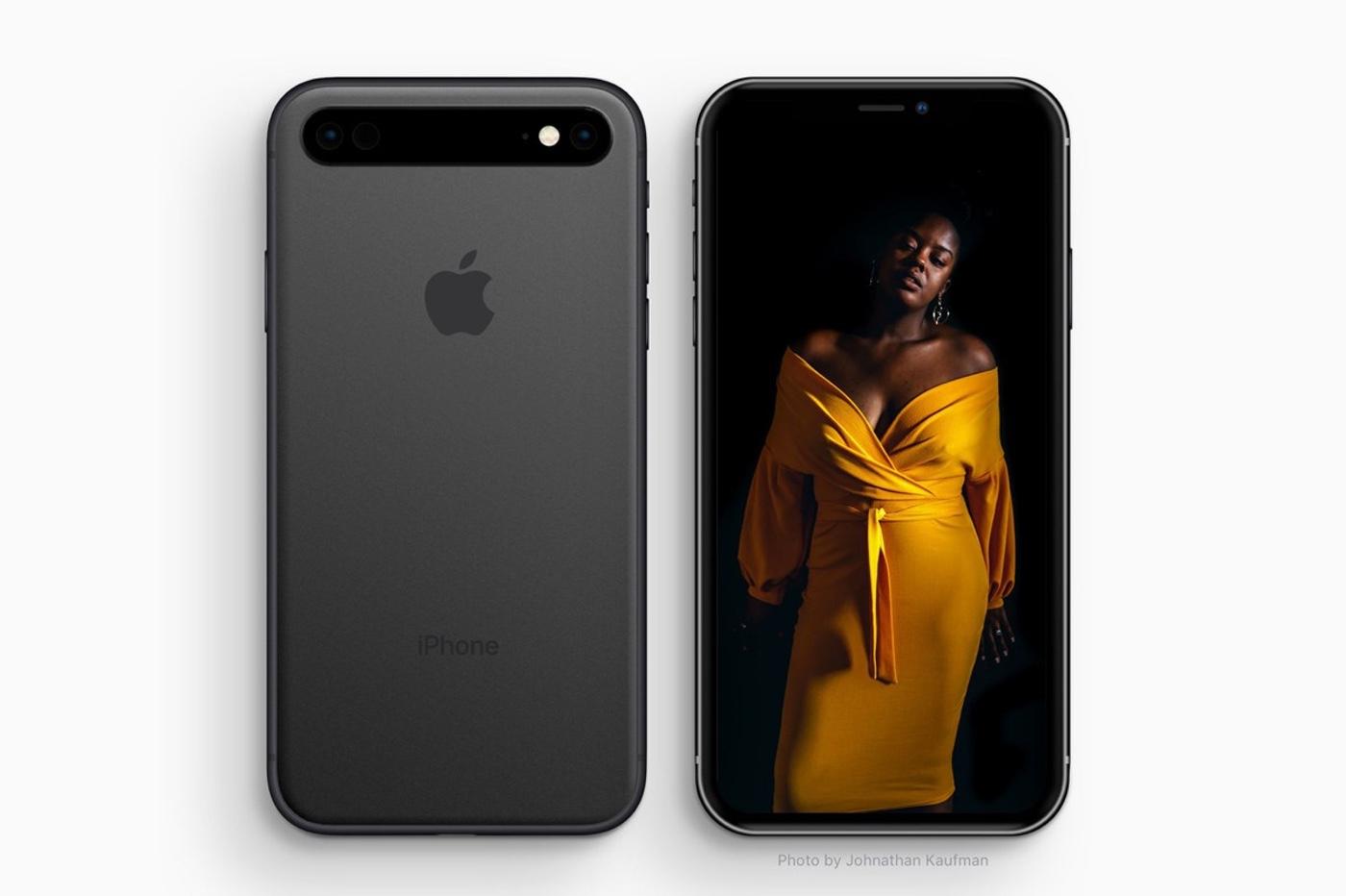 Concept : un triple capteur photo aligné horizontalement pour l'iPhone 11 1