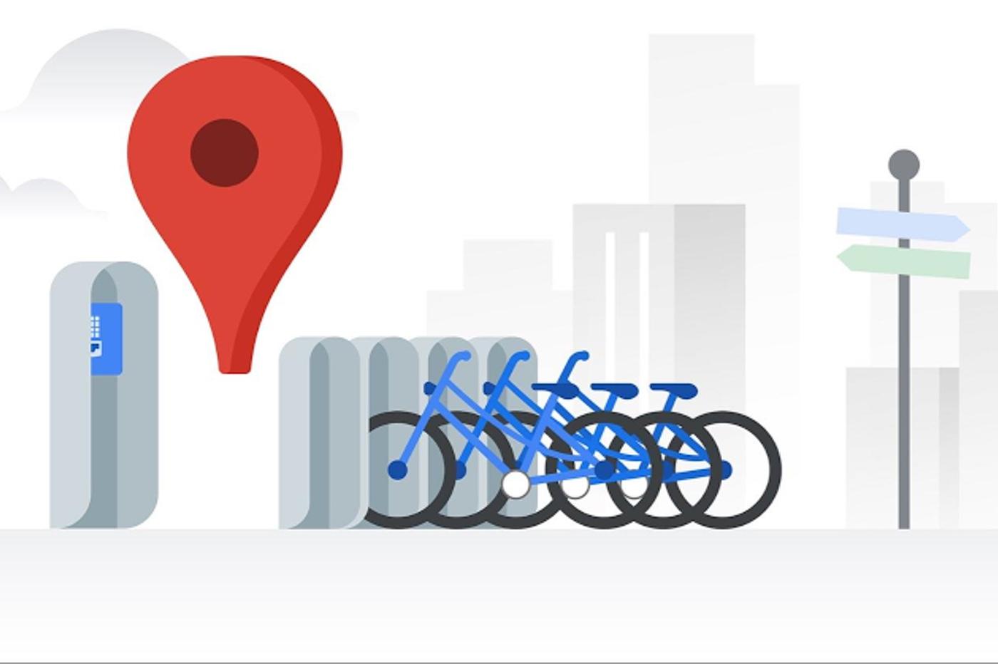 Google Maps affiche les stations de vélo en libre-service à Lyon, et dans 23 autres villes 1
