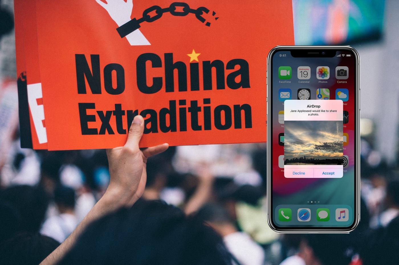 Les manifestants de Hong Kong utilisent AirDrop pour combattre la censure chinoise 1