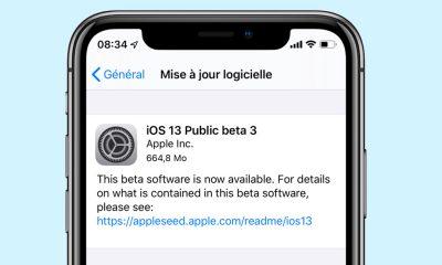 La troisième bêta publique d'iOS 13 est disponible 3