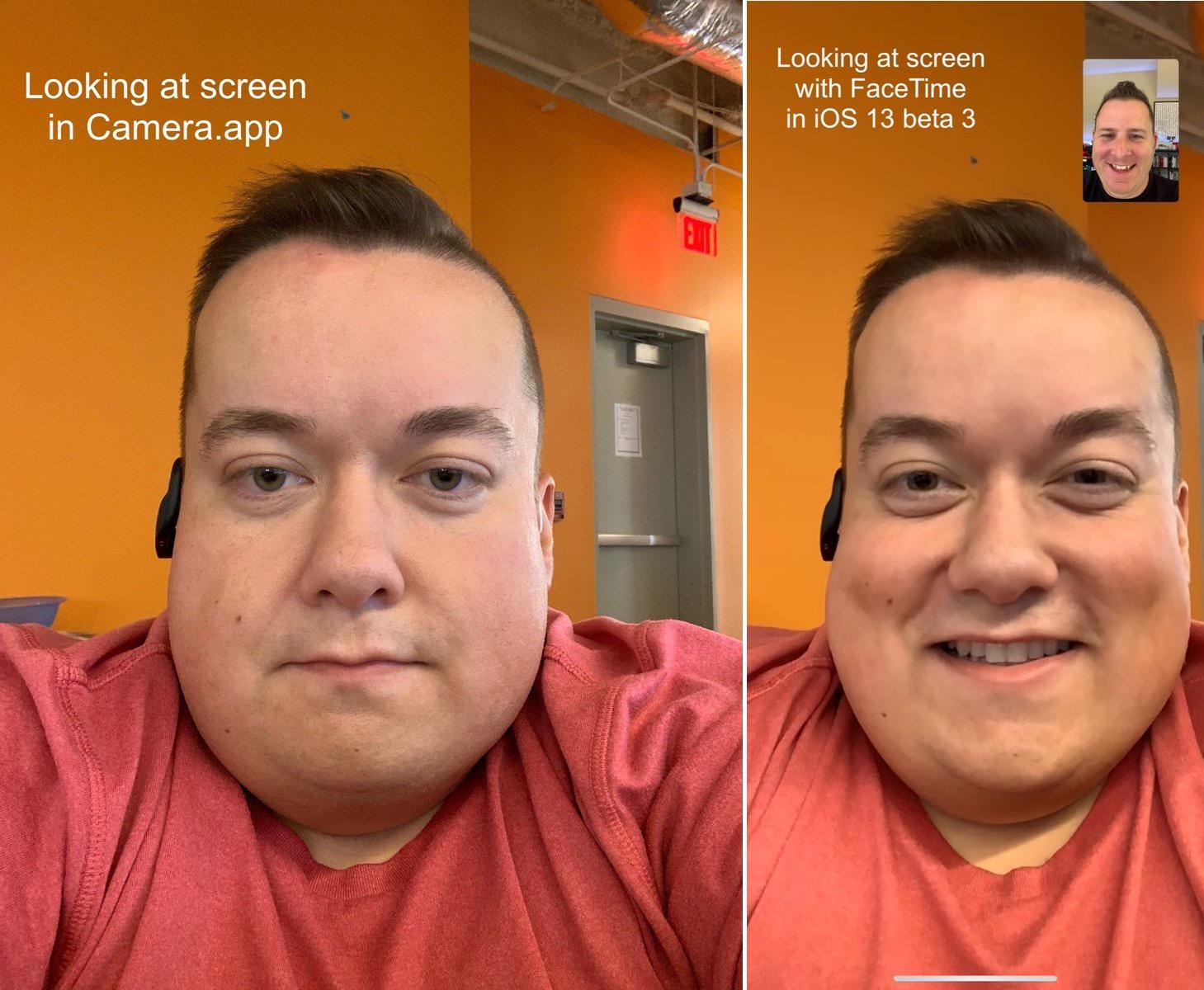 Nouveau sur FaceTime et iOS 13: le regard automatiquement ajusté vers l'interlocuteur 1