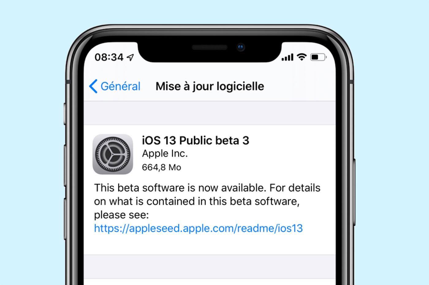 La troisième bêta publique d'iOS 13 est disponible 1