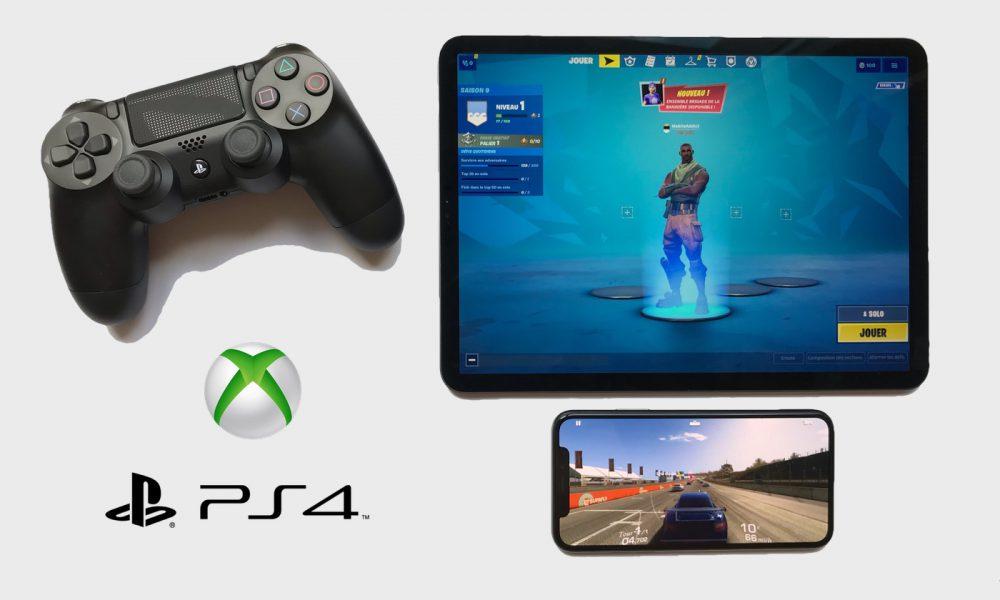 Manette PS4 et Xbox avec iPad et iPhone sous iOS 13