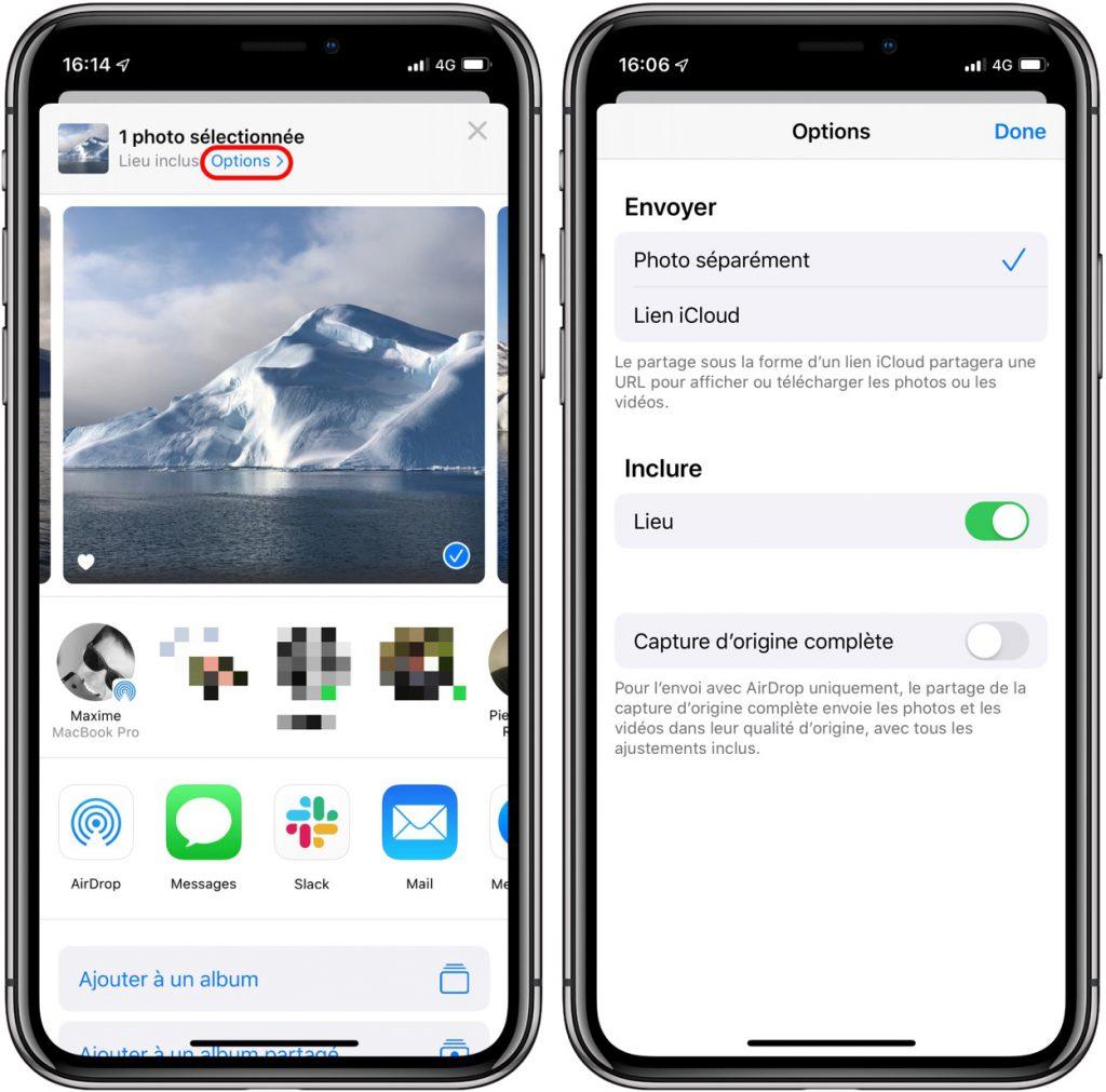 iOS 13 peut supprimer les données de localisation d'une photo 2