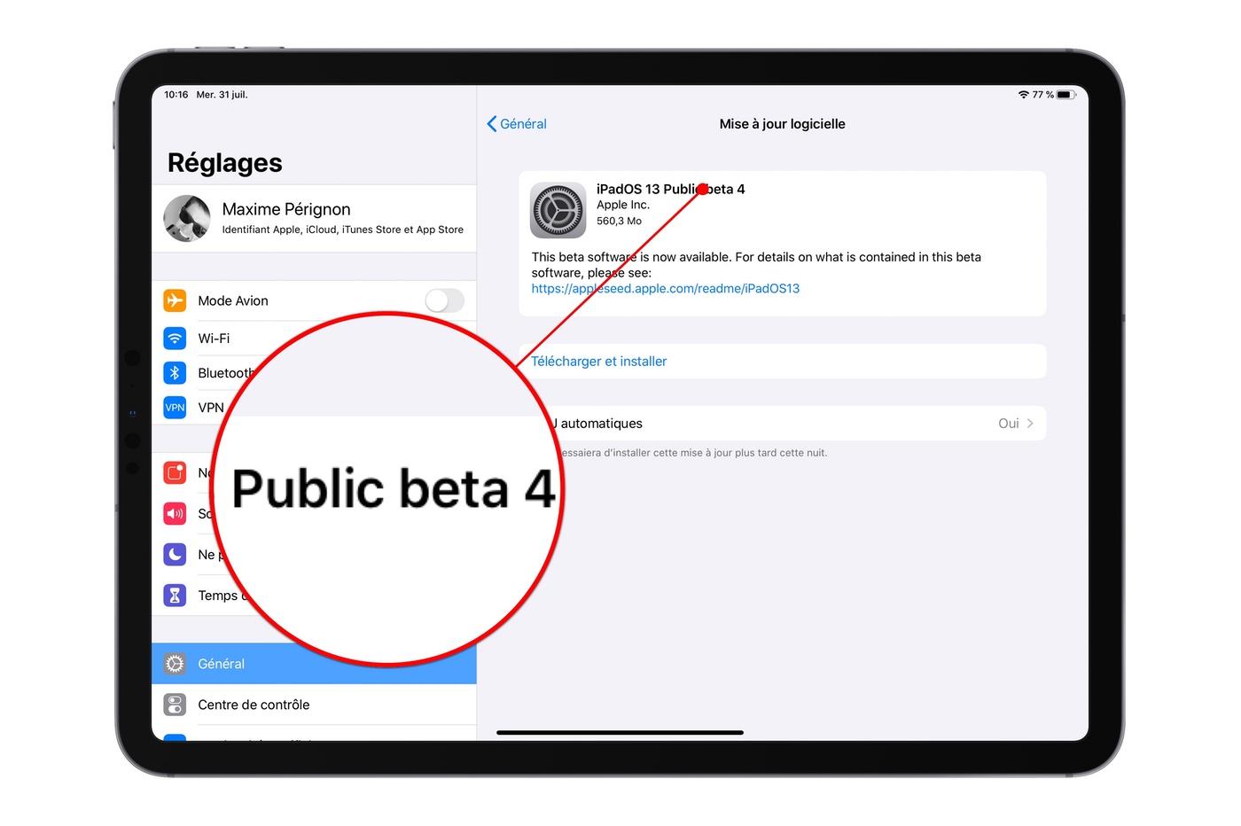 La quatrième bêta publique d'iOS 13 et iPadOS est disponible 1