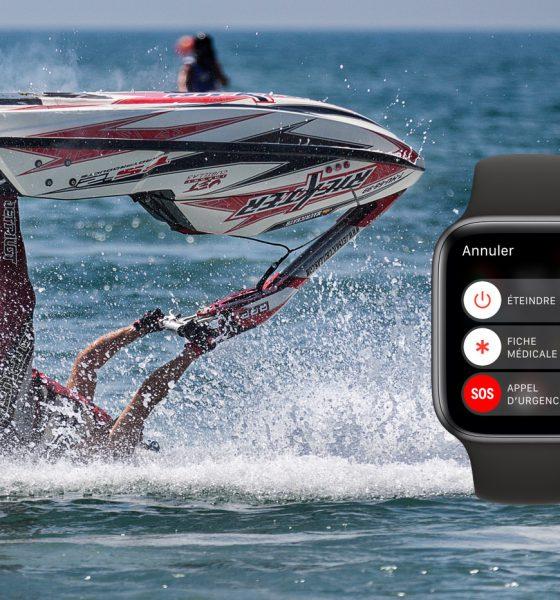 Ejecté de son jet ski, l'Apple Watch lui sauve la vie 2