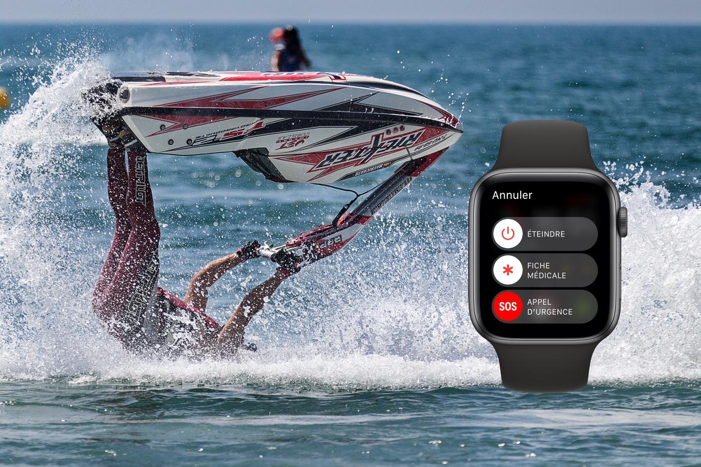 Ejecté de son jet ski, l'Apple Watch lui sauve la vie 1