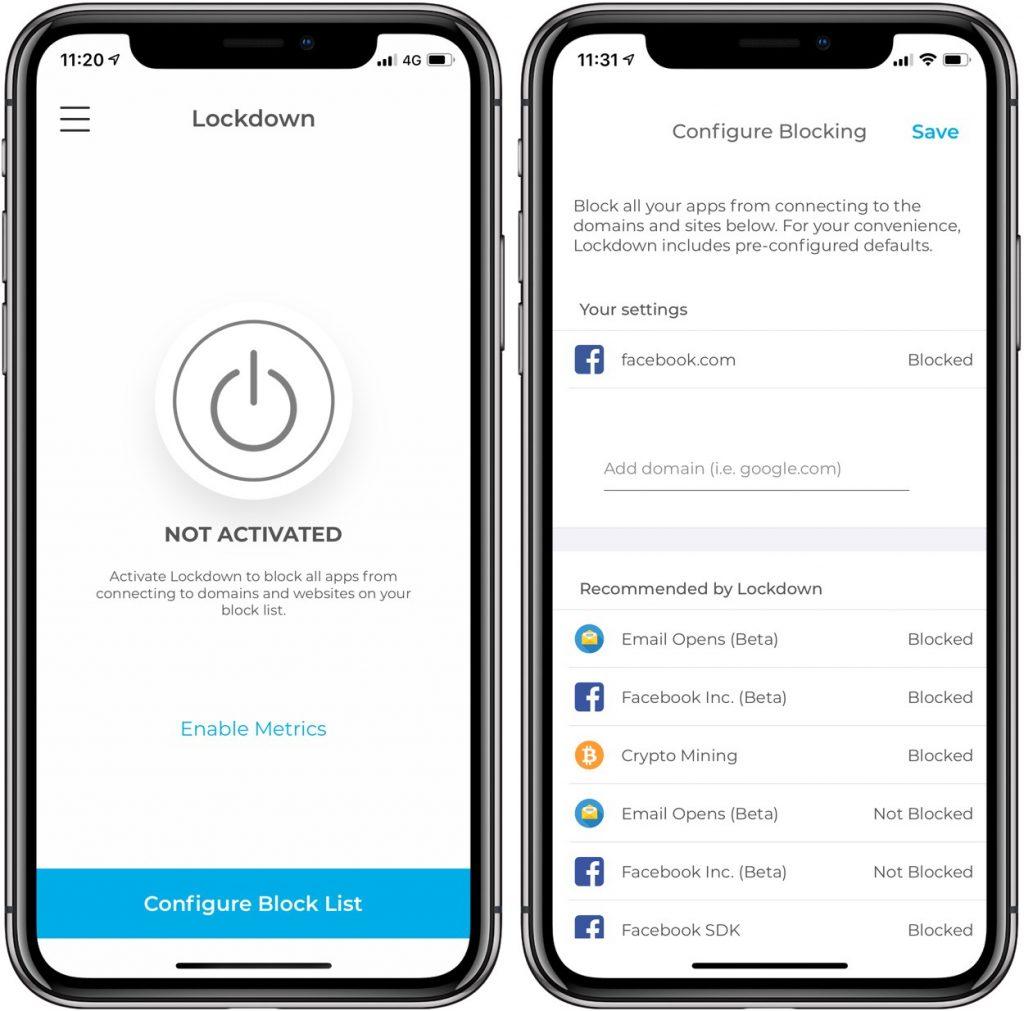 Lockdown: le premier pare-feu qui protège votre vie privée sur iPhone 2