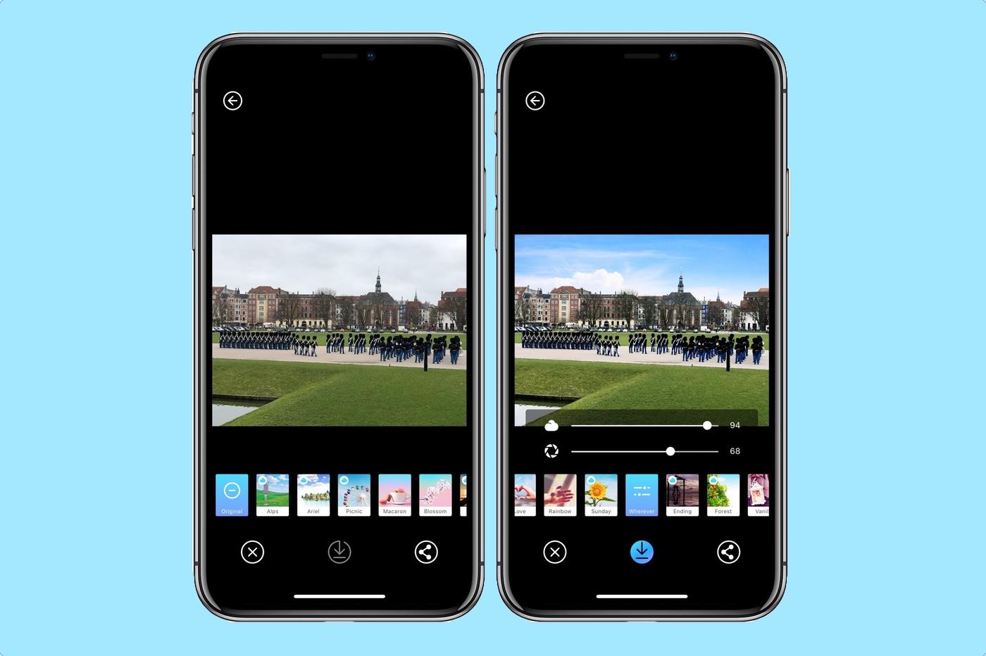 Picnic : pour changer la météo de vos photos sur iPhone, iPad 1