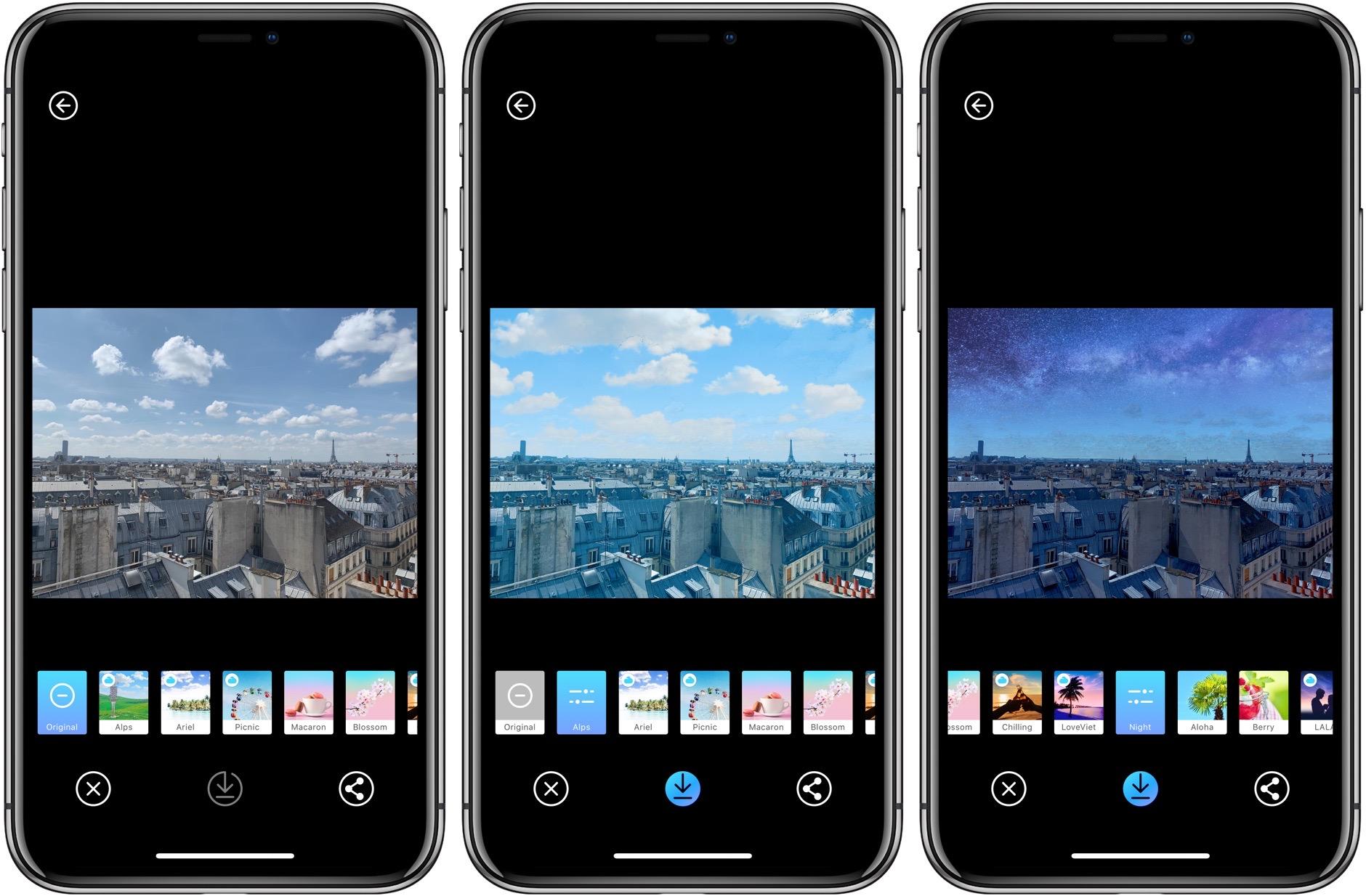 Picnic: pour changer la météo de vos photos sur iPhone, iPad 2